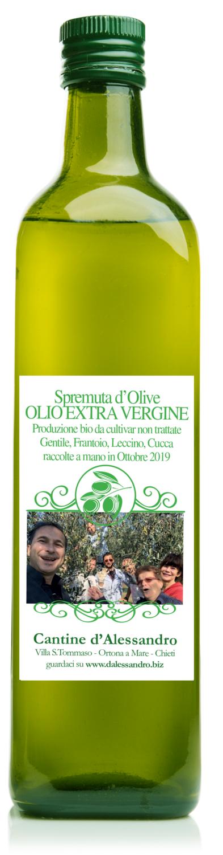 Bottiglia olio EVO da 750cc  Edizione Novembre 2019