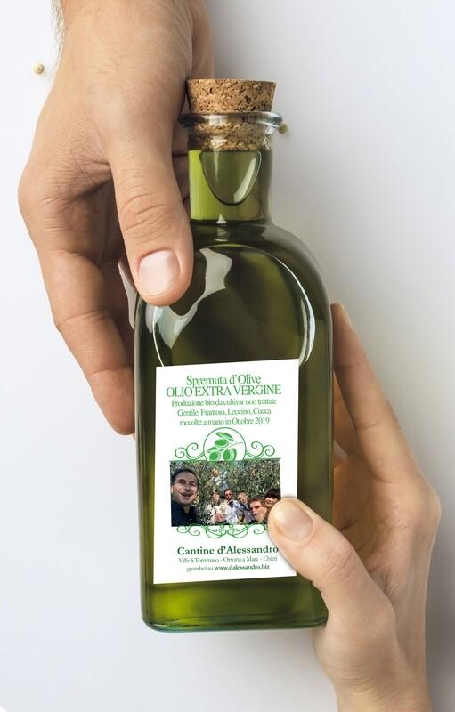 Bottiglia da degustazione olio EVO da 200cc