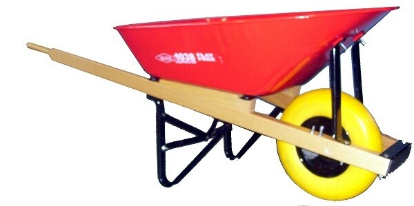 ERIE CONTRACTOR WHEELBARROW 6 CU FT - FLAT FREE TIRE