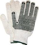 DOZEN (L) KNITTED COTTON/ PVS DOTS GLOVES