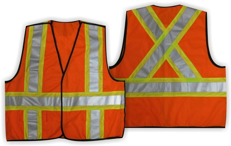 HI VIZ ORANGE TEAR AWAY VEST L/XL
