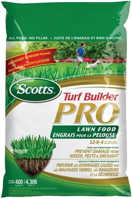 SCOTTS TURF BUILDER PRO LAWN FOOD - 5.6 KG