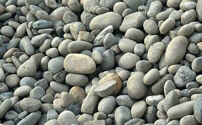 1/2 YARD RIVER ROCK ( 2