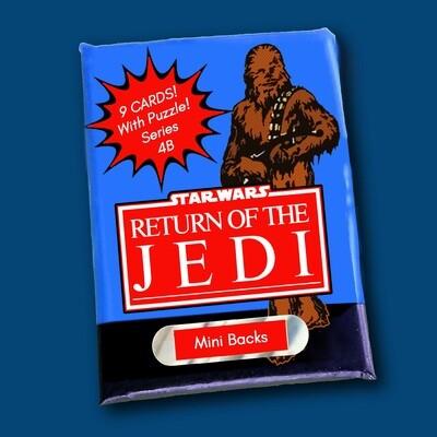Star Wars Mini Back Wax Pack Series (CHEWIE WRAPPER) 4B