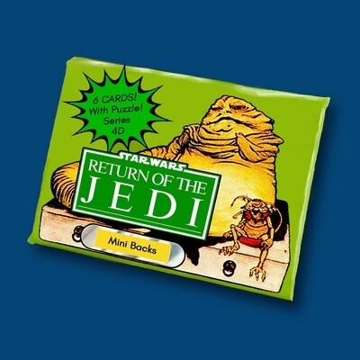 Star Wars Mini Back Wax Pack Jabba Chase 4D