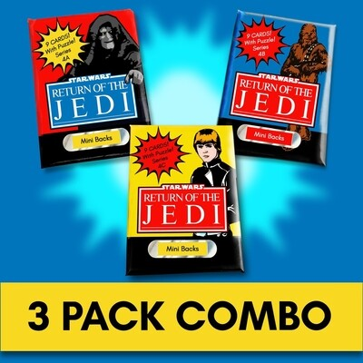 Star Wars Mini Back Wax Pack series 4 Combo! Wrapper version 1