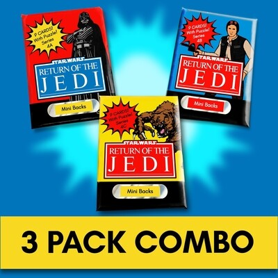 Star Wars Mini Back Wax Pack series 4 Combo! Wrapper version 2