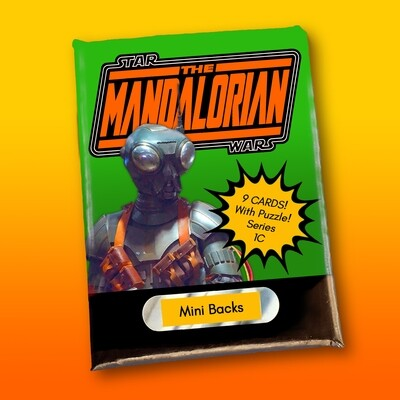 Star Wars Mini Back Wax Pack Mandalorian 1C (Q9-0)