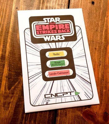 ESB FULL SIZE CARD BACK 3 PACK!!