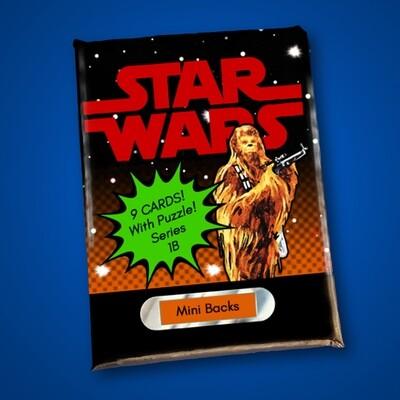 Star Wars Mini Back Wax Pack Series 1B