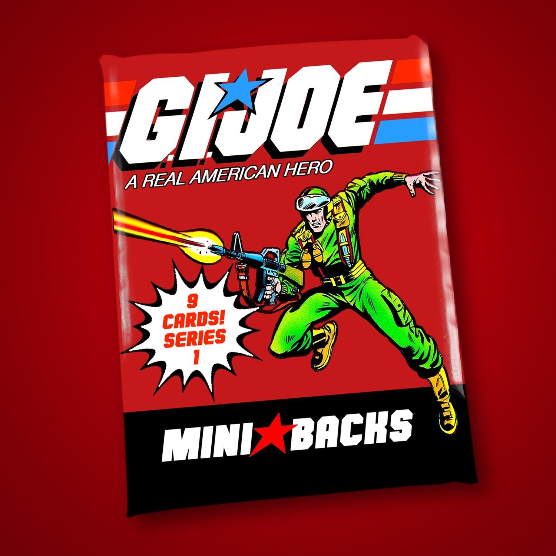 GI JOE SERIES 1 MINI BACK WAX PACK!