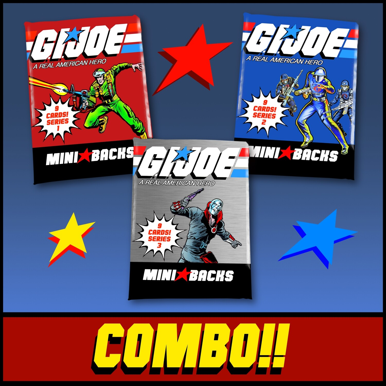 GI JOE 3 PACK COMBO!