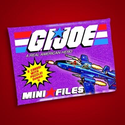 GI JOE SERIES 4 MINI FILES WAX PACK!