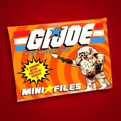 GI JOE SERIES 6 MINI FILES WAX PACK!