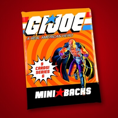 GI JOE SERIES 6 MINI BACK WAX PACK!