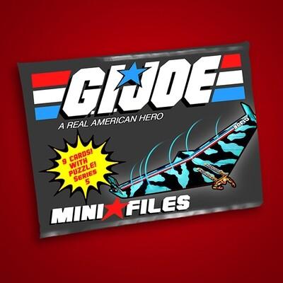 GI JOE SERIES 5 MINI FILES WAX PACK!