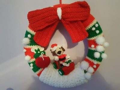 Handmade Christmas Wreathe - One off!