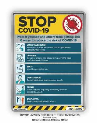 COVID-19 - 6 Ways To Reduce The Risk