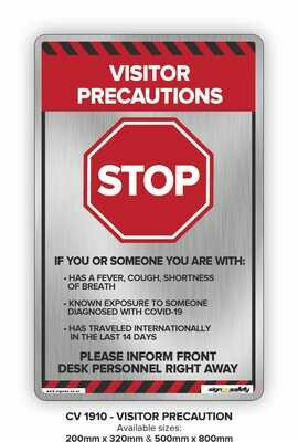 Stop - Visitor Precaution