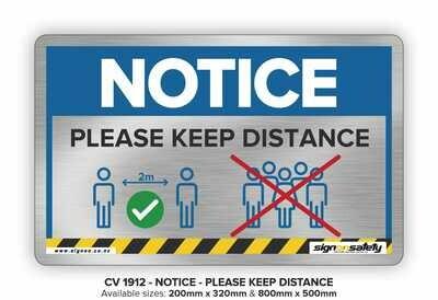 Notice - Please keep Distance
