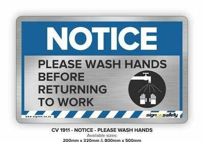 Notice - Please Wash Your Hands