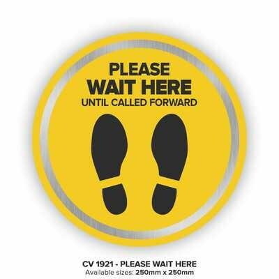 Please Wait Here - Floor Decal