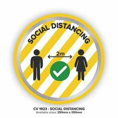 Social Distancing - Floor Decal