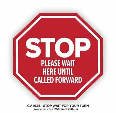 Stop Wait Here - Floor Decal