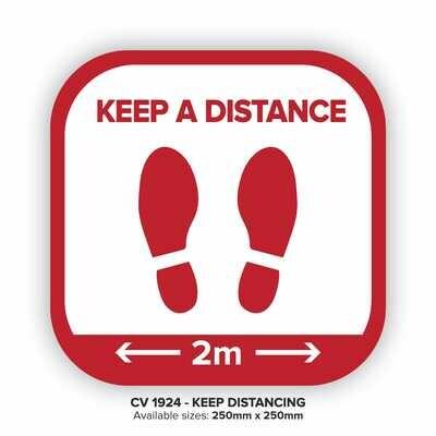 Keep A Distance - Floor Decal