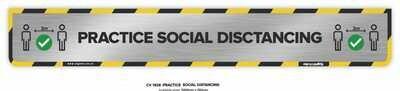 Practice Social Distancing - Long Floor Decal