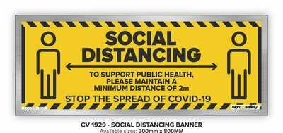 Social Distancing - Banner