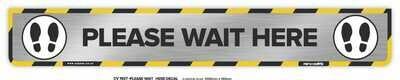 Please Wait Here - Long Floor Decal