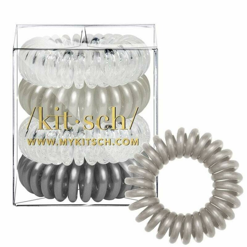 Kitsch 4 Pack Hair Coils Charcoal