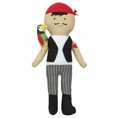 Pirate Doll Red Hat