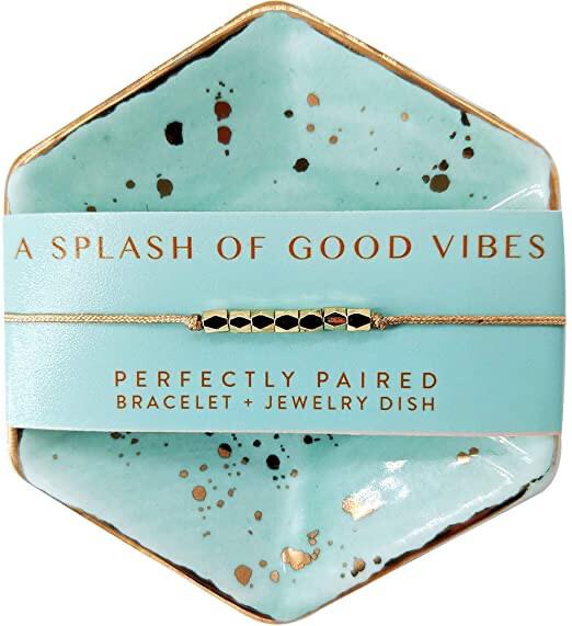 Bracelet + Dish Set Good Vibes