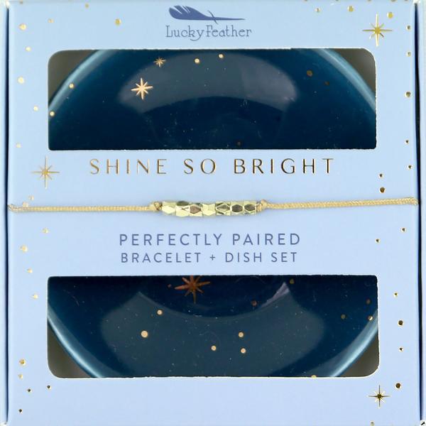 Bracelet + Dish Set Shine