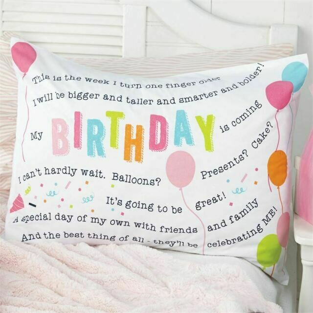 Birthday Pillowcase Girl