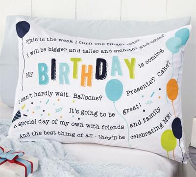 Birthday Pillowcase Boy
