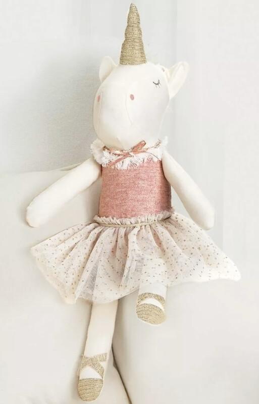Linen Unicorn Doll