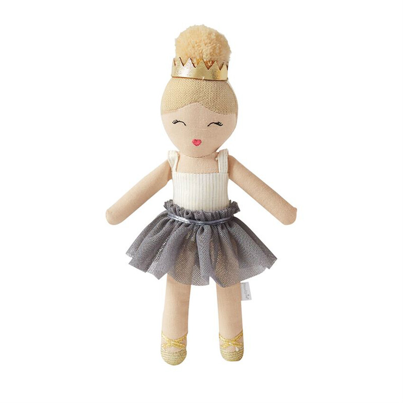 Ballerina Rattle Blonde with Gray