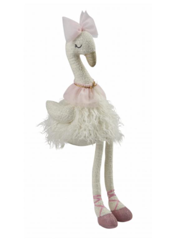 Plush Swan White Fur