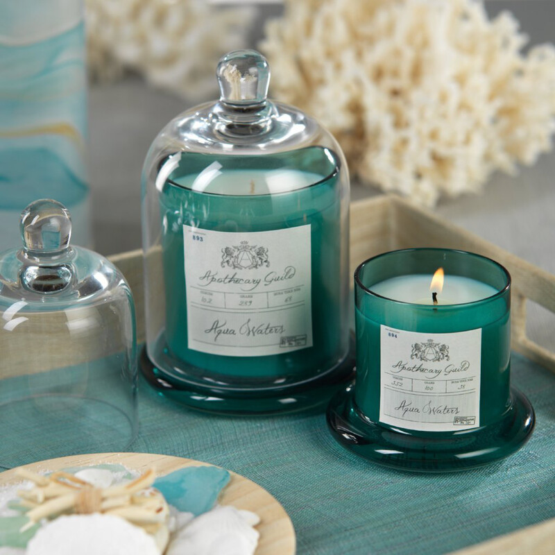 Aqua Waters Candle W/ Dome- Med