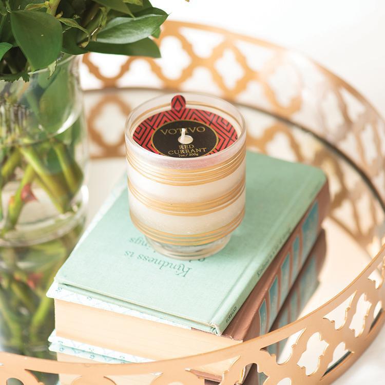 Votivo Petite Pedestal Candle Red Currant