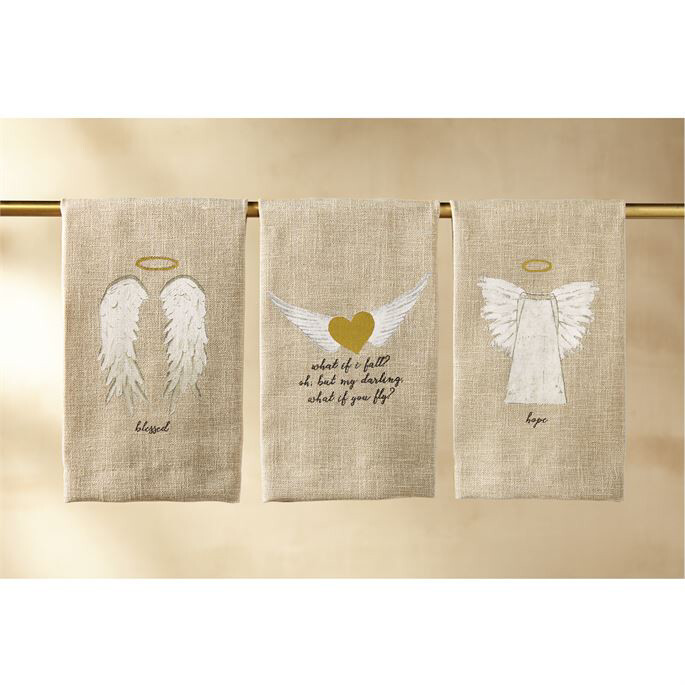 Linen Hand Towel Heart