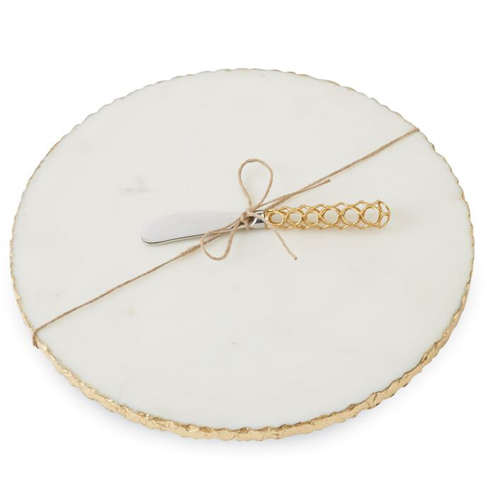 MP Gold Marble Round Board