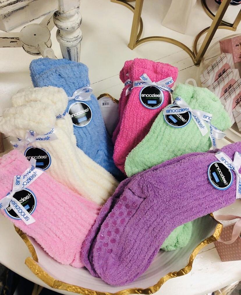 Snoozie Shea Butter Socks Green