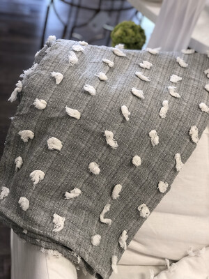Decorative Throw Gray