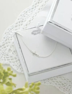 Silver Cross Baby Necklace