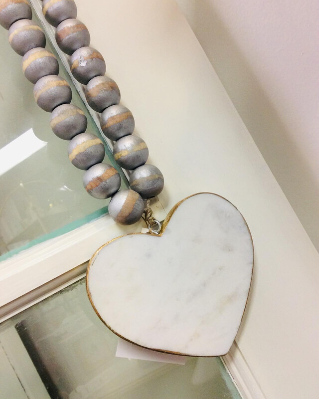 Marble Blessing Bead Heart