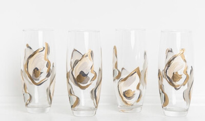 Oyster Stemless Champ Glass Gold